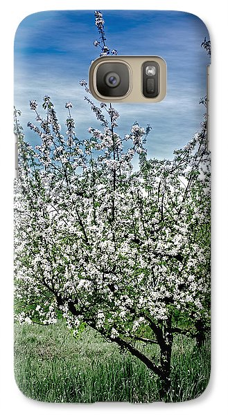 Galaxy Case featuring the photograph The Apple Tree Blooms by William Havle