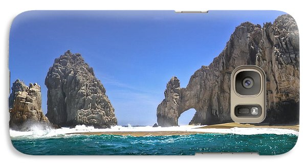 Galaxy Case featuring the photograph The Arch  Cabo San Lucas On A Low Tide by Eti Reid