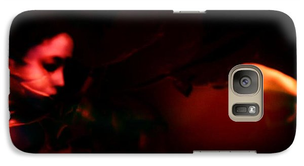 Galaxy Case featuring the photograph The Architect Of Red  by Jessica Shelton