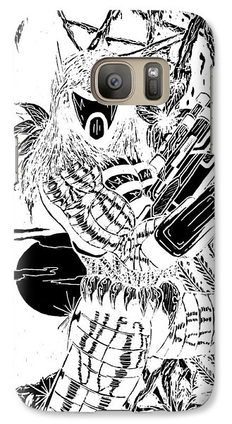 Galaxy Case featuring the digital art The Assassin Invert by Justin Moore