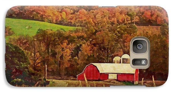 Galaxy Case featuring the digital art The Autumn Barn by Lianne Schneider