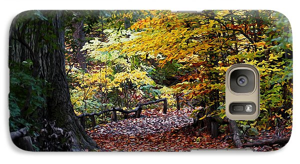 Galaxy Case featuring the photograph The Autumn Path by Yue Wang