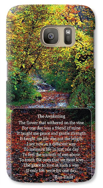 Galaxy Case featuring the photograph The Awakening by Ron Haist