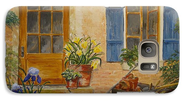 Galaxy Case featuring the painting The Back Door by Marilyn Zalatan