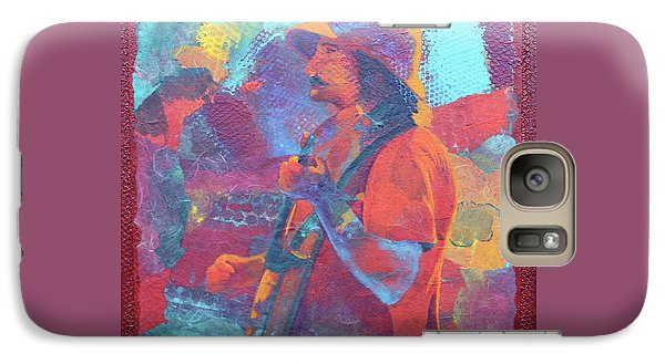 Galaxy Case featuring the painting The Banjo Player by Nancy Jolley