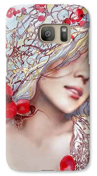 Galaxy Case featuring the painting The Barberry by Anna Ewa Miarczynska