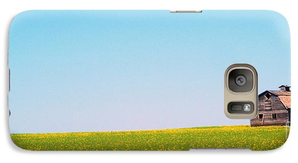 Galaxy Case featuring the photograph the Barn by Marianne NANA Betts