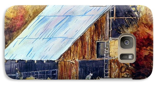 Galaxy Case featuring the painting The Barn Mouser by Sherril Porter