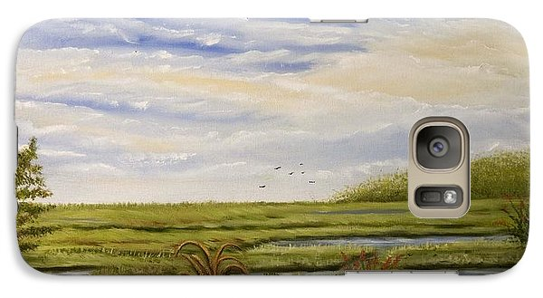 Galaxy Case featuring the painting The Bay Side Of The Shore by Susan Culver
