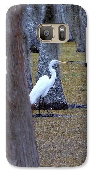 Galaxy Case featuring the photograph The Bayou's White Knight by John Glass