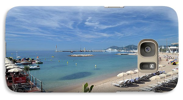 Galaxy Case featuring the photograph The Beach At Cannes by Allen Sheffield