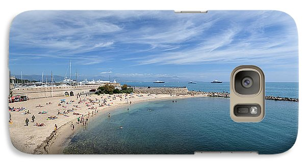 Galaxy Case featuring the photograph The Beach At Cap D' Antibes by Allen Sheffield