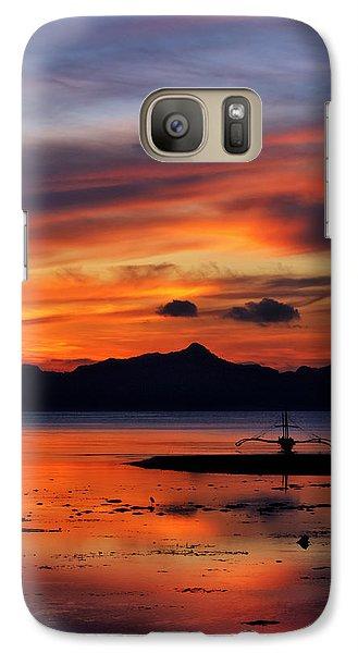 Galaxy Case featuring the photograph The Beach by John Swartz