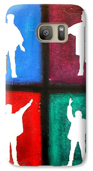 Galaxy Case featuring the painting The Beatles Help Pop Art by Bob Baker