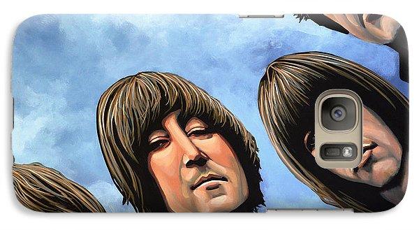 Realistic Galaxy S7 Case - The Beatles Rubber Soul by Paul Meijering