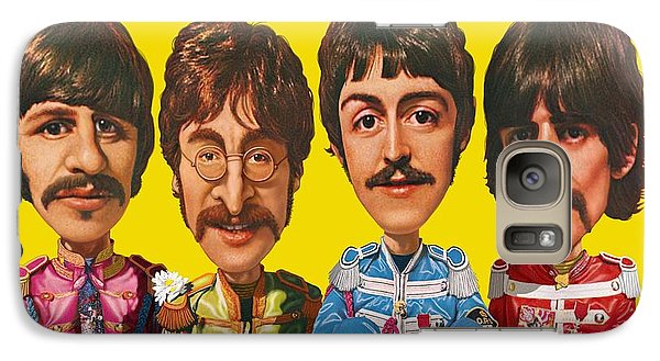 Galaxy Case featuring the digital art The Beatles by Scott Ross