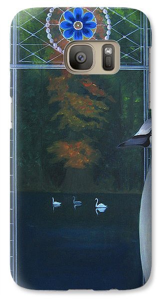 Galaxy Case featuring the painting The Beautiful Duckling by Tone Aanderaa