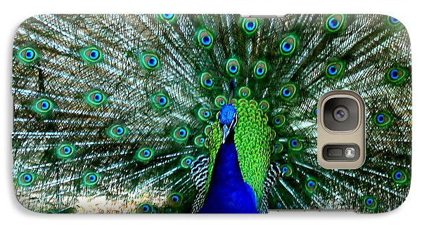 Galaxy Case featuring the photograph The Beautiful Plumage by Kathy  White