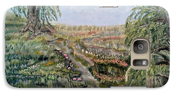 Galaxy Case featuring the painting The Beauty Of A Marsh by Felicia Tica