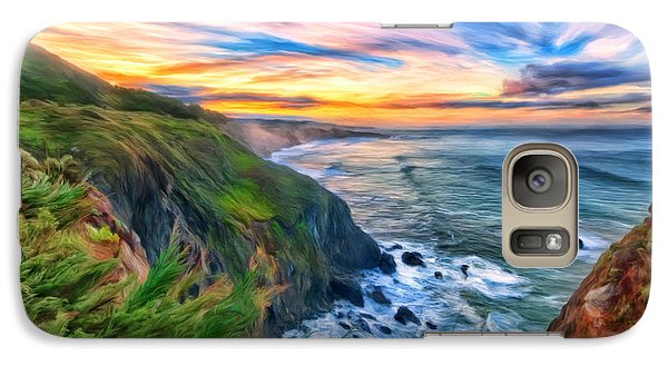 Galaxy Case featuring the painting The Beauty Of Big Sur by Michael Pickett