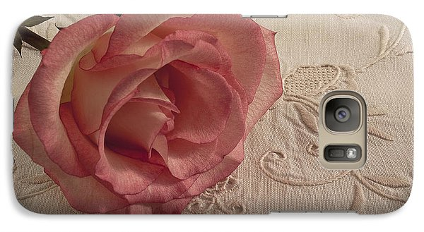 Galaxy Case featuring the photograph The Beauty Of Just One Rose by Sandra Foster