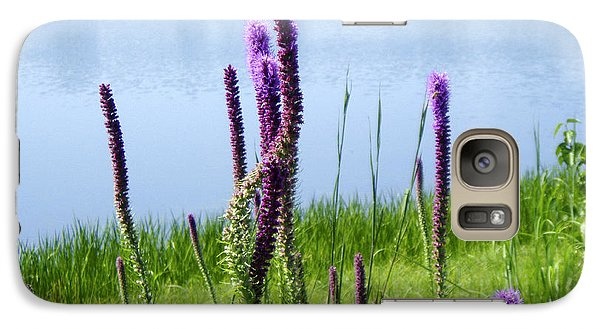 Galaxy Case featuring the photograph The Beauty Of The Liatris by Verana Stark