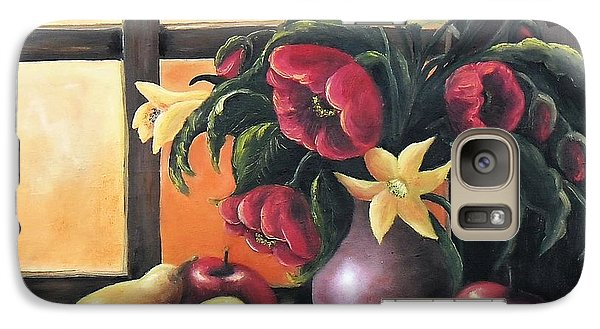 Galaxy Case featuring the painting The Beauty Of The Moment   by Vesna Martinjak