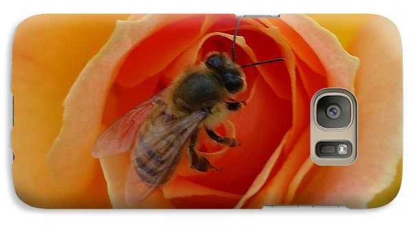 Galaxy Case featuring the photograph The Beekeeper by Leslie Manley