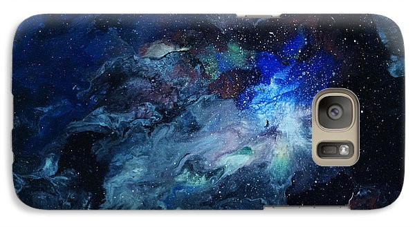 Galaxy Case featuring the painting The Beginning by Arlene Sundby