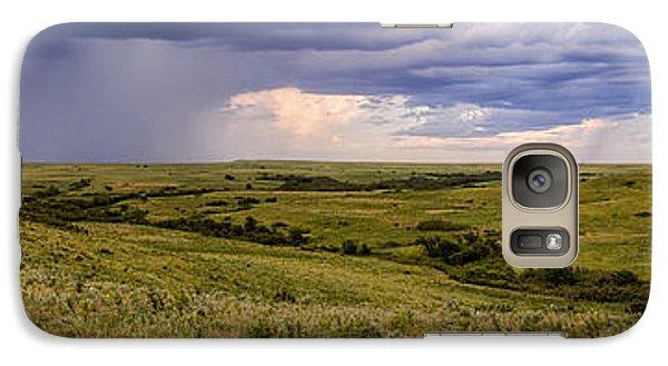 Galaxy Case featuring the photograph The Beginnings - Flint Hills Storm Pano by Scott Bean