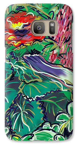 Galaxy Case featuring the painting The Begonia by Jean Pacheco Ravinski