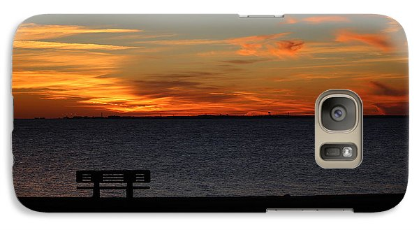 Galaxy Case featuring the photograph The Bench by Faith Williams