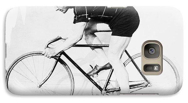 Bicycle Galaxy S7 Case - The Bicyclist - 1914 by Daniel Hagerman