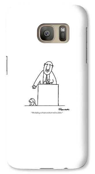 Smallmouth Bass Galaxy S7 Case - The Bidding Will Start At Eleven Million Dollars by Charles Barsotti