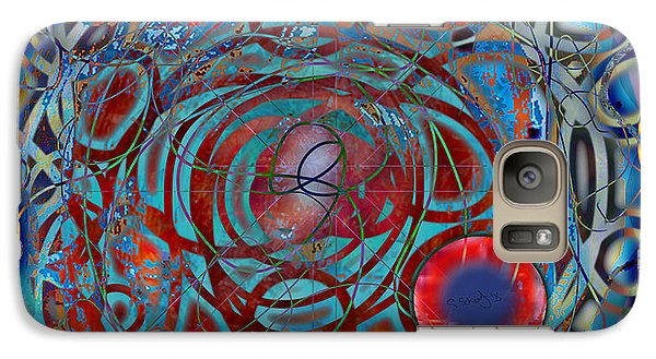 Galaxy Case featuring the digital art The Big Bang Grape Theory by Gabrielle Schertz