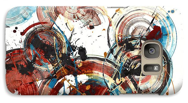Galaxy Case featuring the painting The Big Bang by Kris Haas