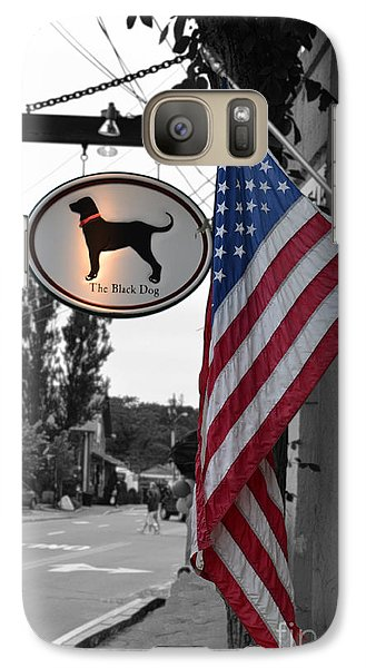 Galaxy Case featuring the photograph The Black Dog Store by Angela DeFrias