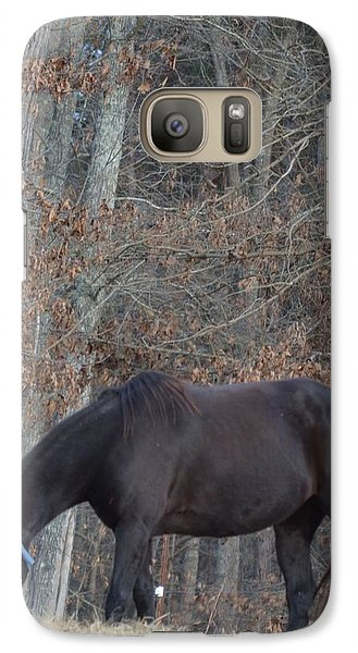 Galaxy Case featuring the photograph The Black by Maria Urso