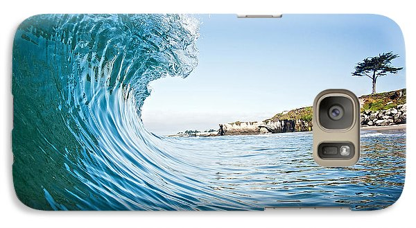 Galaxy Case featuring the photograph The Blue Curl by Paul Topp