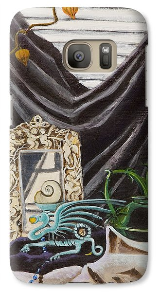 Galaxy Case featuring the painting The Blue Dragon  by Susan Culver