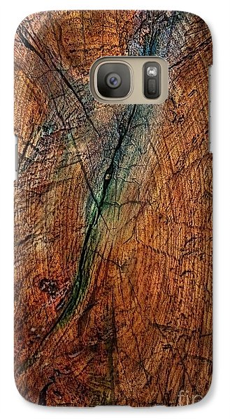 Galaxy Case featuring the digital art The Blue - Green Line by Delona Seserman