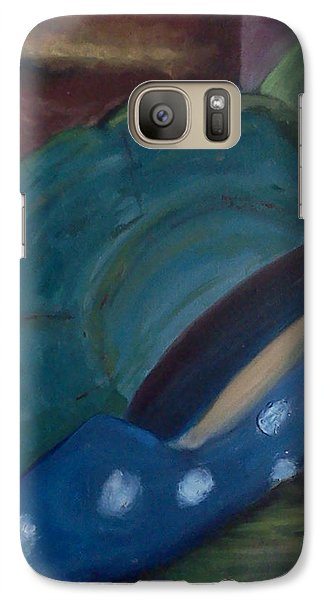 Galaxy Case featuring the painting The Blue Shoe And The Plate 2 by Darlene Berger