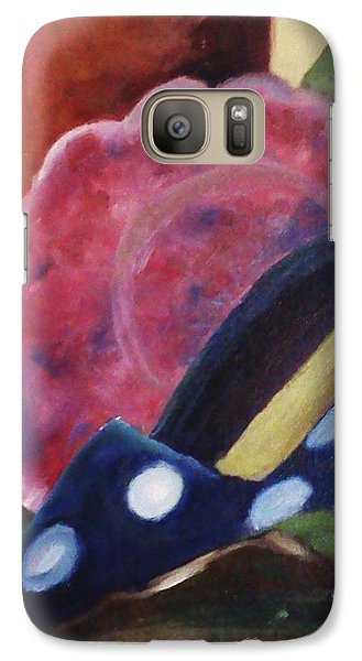 Galaxy Case featuring the painting The Blue Shoe And The Plate by Darlene Berger