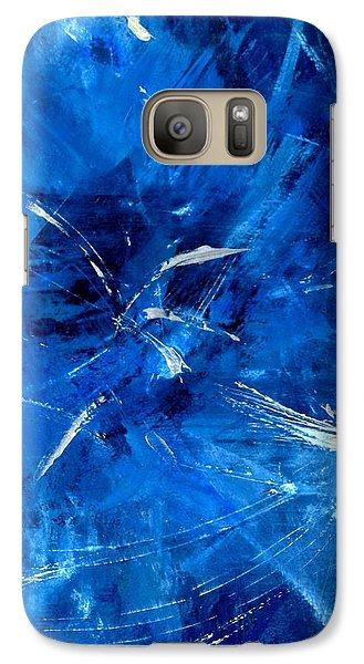 Galaxy Case featuring the painting The Blues by Carolyn Repka