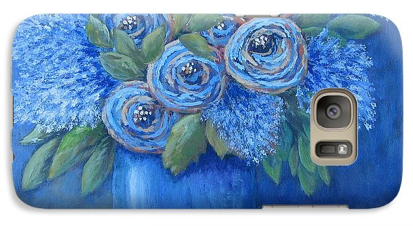 Galaxy Case featuring the painting The Blues by Suzanne Theis