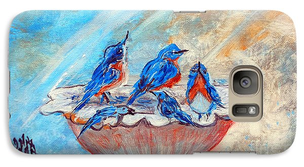 Galaxy Case featuring the painting The Blues by Donna Dixon