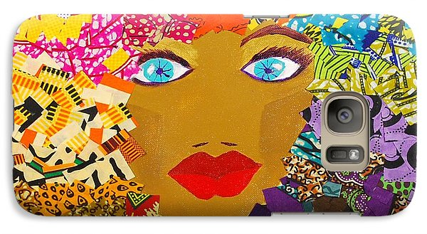Galaxy Case featuring the tapestry - textile The Bluest Eyes by Apanaki Temitayo M