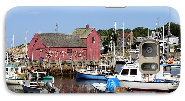Galaxy Case featuring the photograph The Boat Yard At Rockport by Mary Lou Chmura