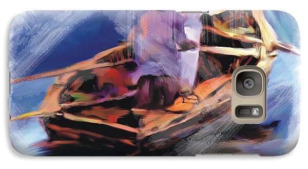 Galaxy Case featuring the painting The  Boatmen by Bob Salo