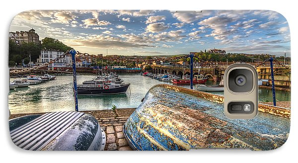 Galaxy Case featuring the photograph The Boats Of Folkestone by Tim Stanley